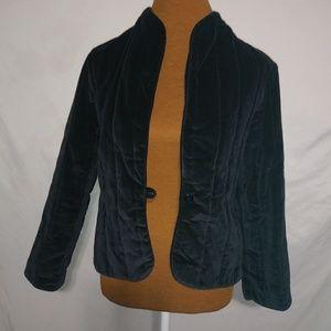 Focus Black Velvet Jacket Sz L